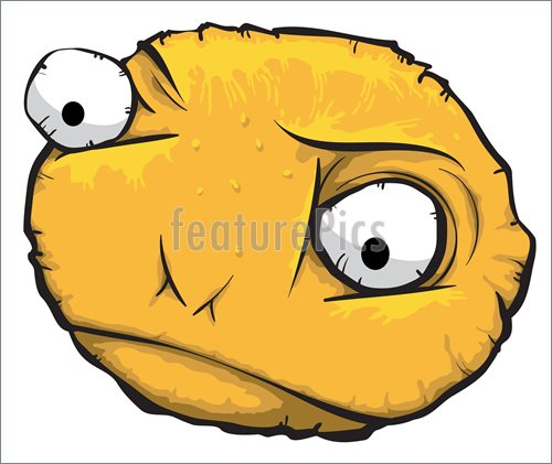 500x421 Round Sad Face Illustration
