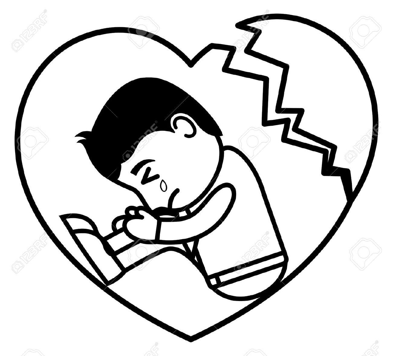 1300x1178 Sad Cartoon Sketch Cartoon Boy Sad Face Drawing