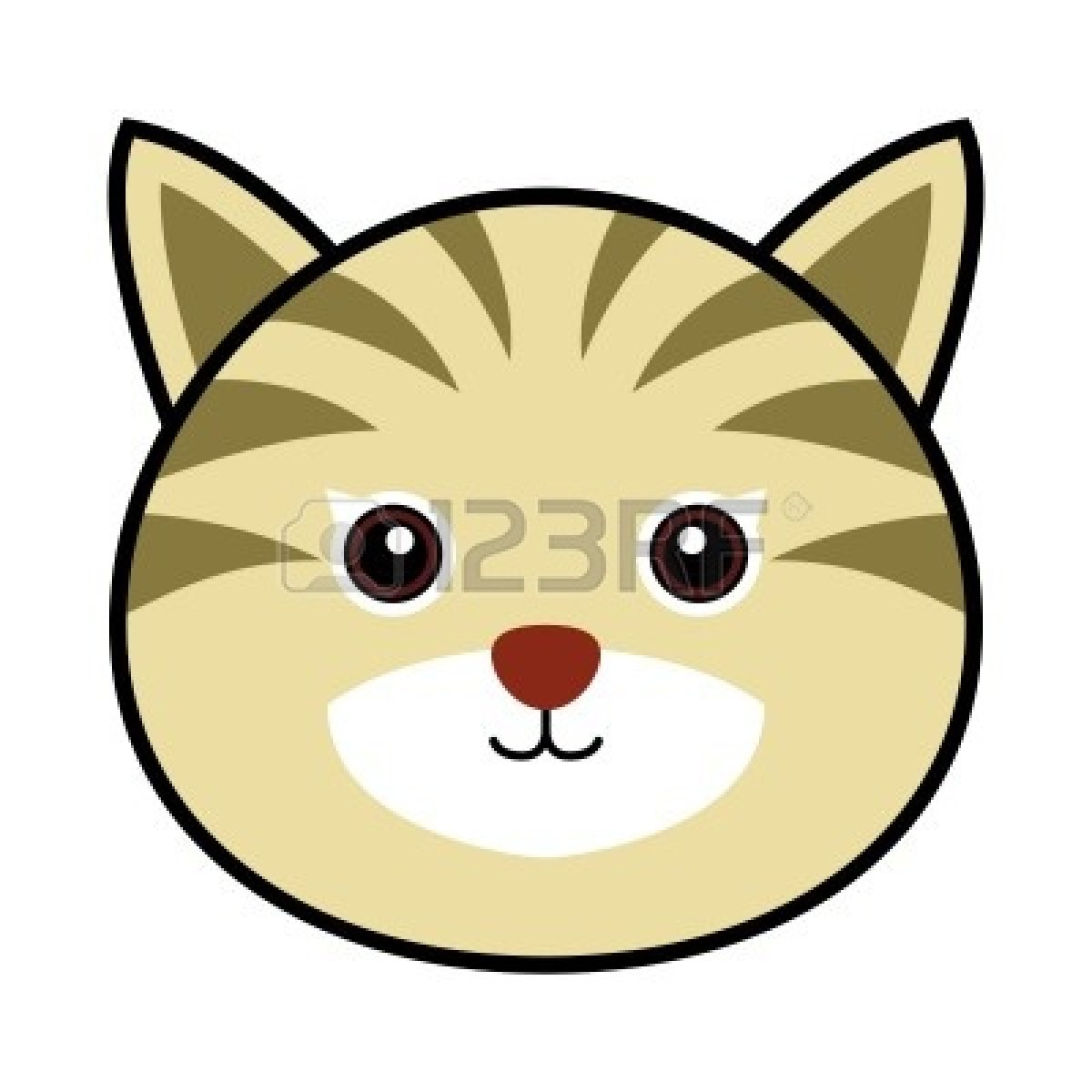 1200x1200 Sad Clipart Cat Face