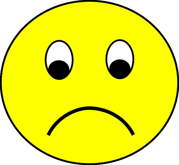600x552 Sad Face Clipart Free