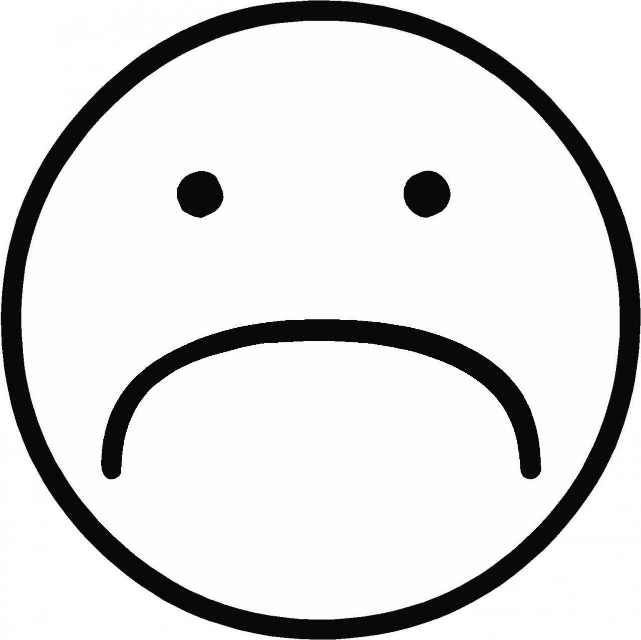 1280x1279 Happy And Sad Face Clipart