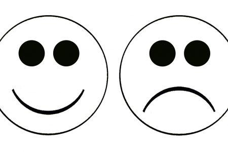 450x300 Happy Face Sad Face Clip Art