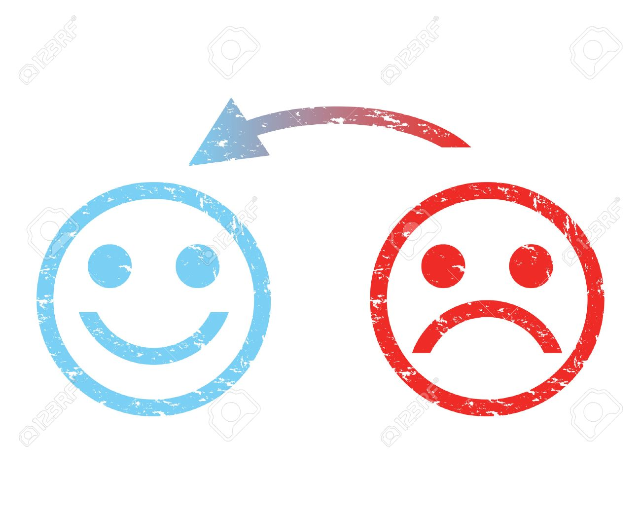 1300x1042 Sad Face To A Happy Face Royalty Free Cliparts, Vectors, And Stock
