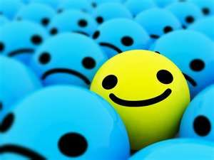 300x225 One Happy Face Out Of All The Sad Faces Art