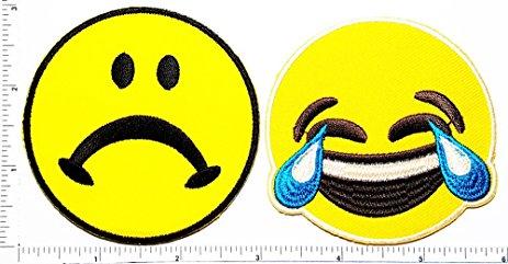 463x241 Set Of 2 Crying Emoji Sad Frowny Face Emoticon Emoji