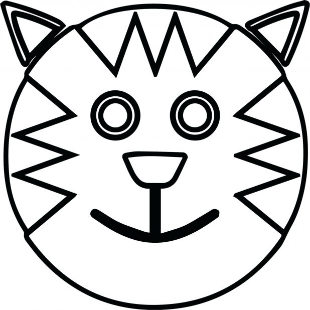 618x618 New Sad Face Coloring Page