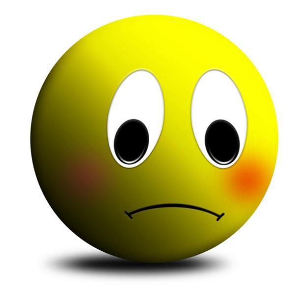 612x612 Sad Smiley Face