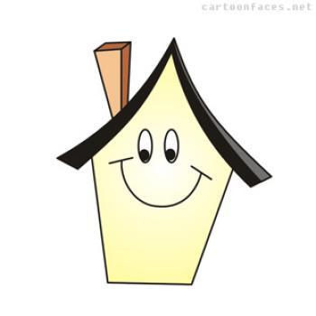 350x350 Happy House Clipart