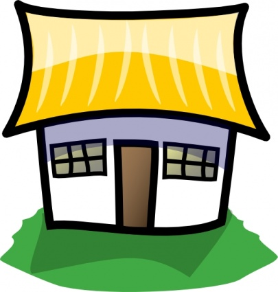 405x425 Sad House Clipart
