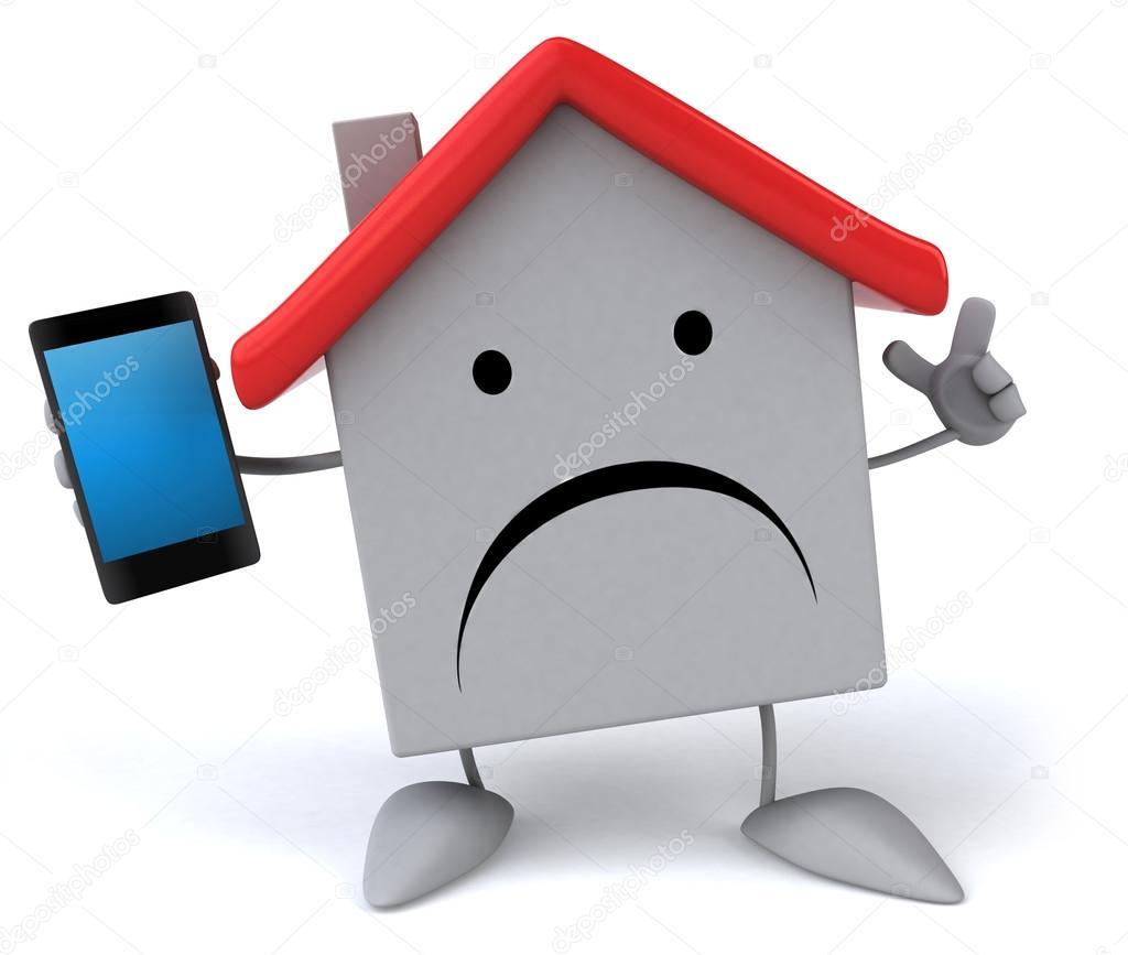 1024x867 Sad House With Phone Stock Photo Julos