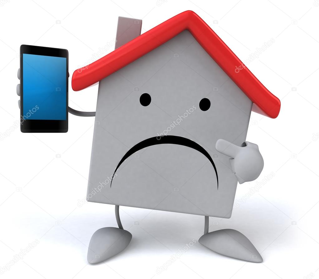 1023x896 Sad House With Phone Stock Photo Julos