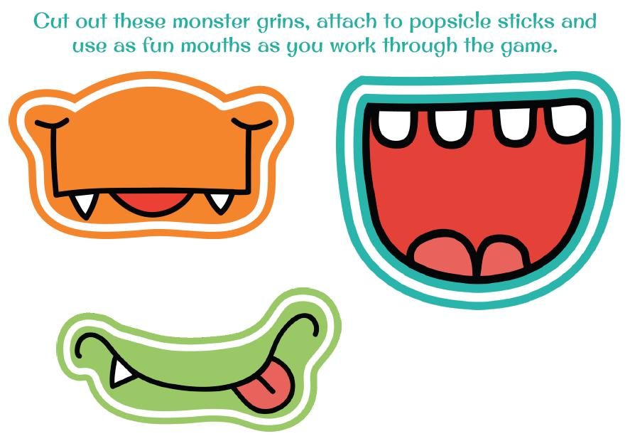 887x627 Free Monster Mouth Clipart
