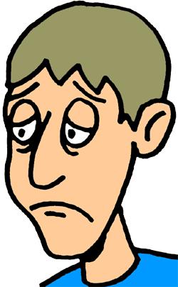 Sad Person Clipart