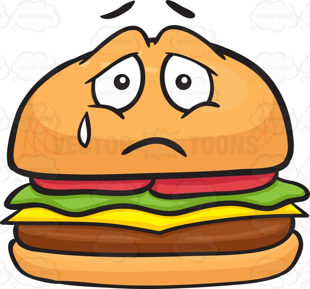1024x954 Burger Clipart Sad