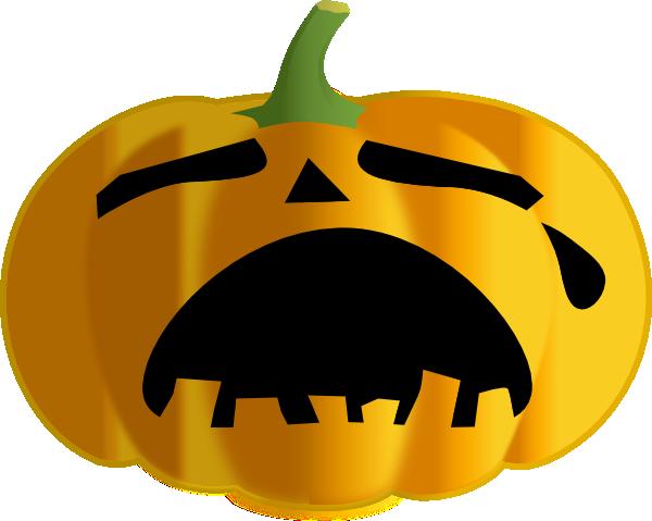 600x479 Pumpkin Clipart Sad