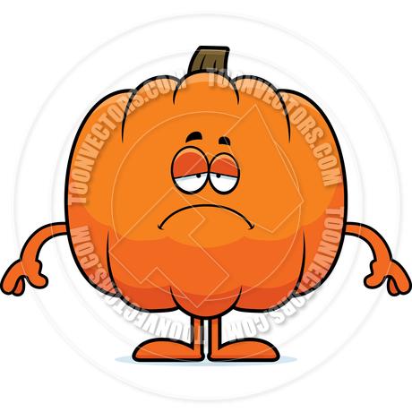 460x460 Cartoon Pumpkin Sad By Cory Thoman Toon Vectors Eps