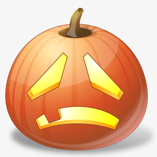 512x512 Sad Pumpkin, Vector Png, Pumpkin, Pumpkin Face Png And Vector