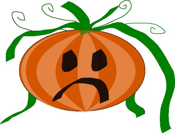 600x455 Decorated Sad Pumpkin Clip Art