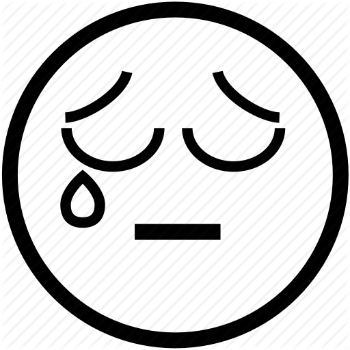 512x512 Sad Smiley Face With Tear