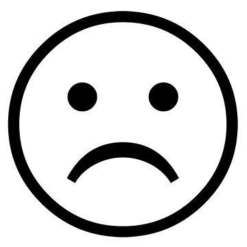 Sad Smiley Face Black And White | Free download best Sad ...