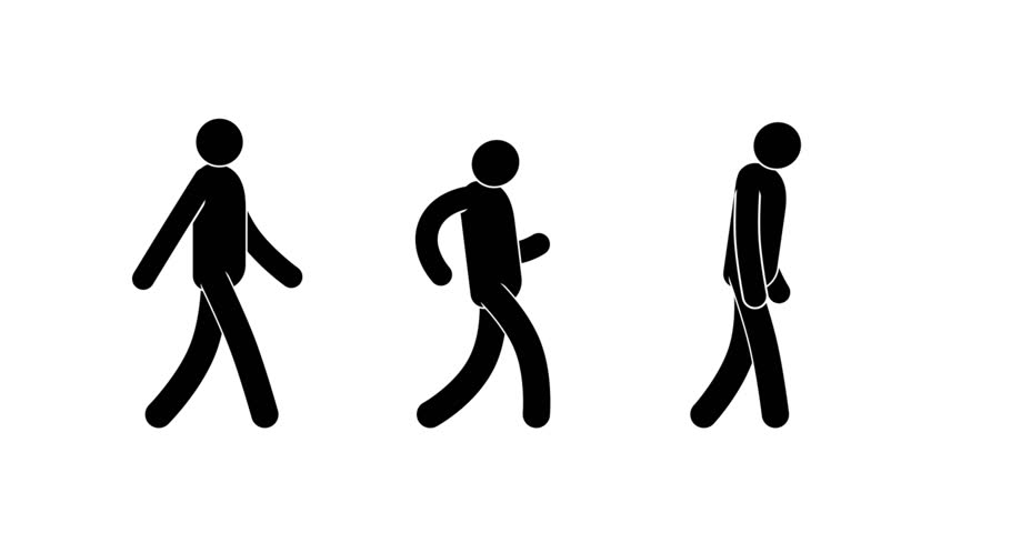 910x480 Infographic Pictograms Stick Figure Walking Up Looped Animation