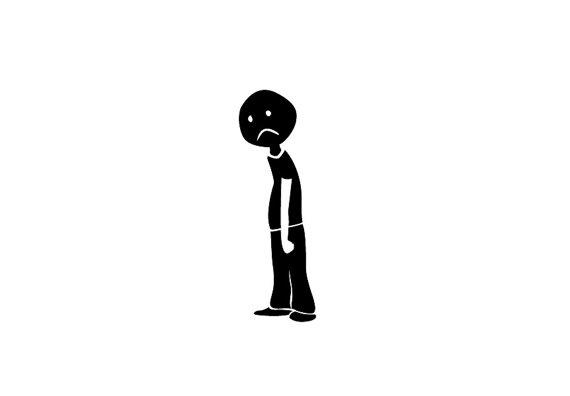 570x396 Single Guy Or Girl Sad Stick Figure Family Vinyl Bumper