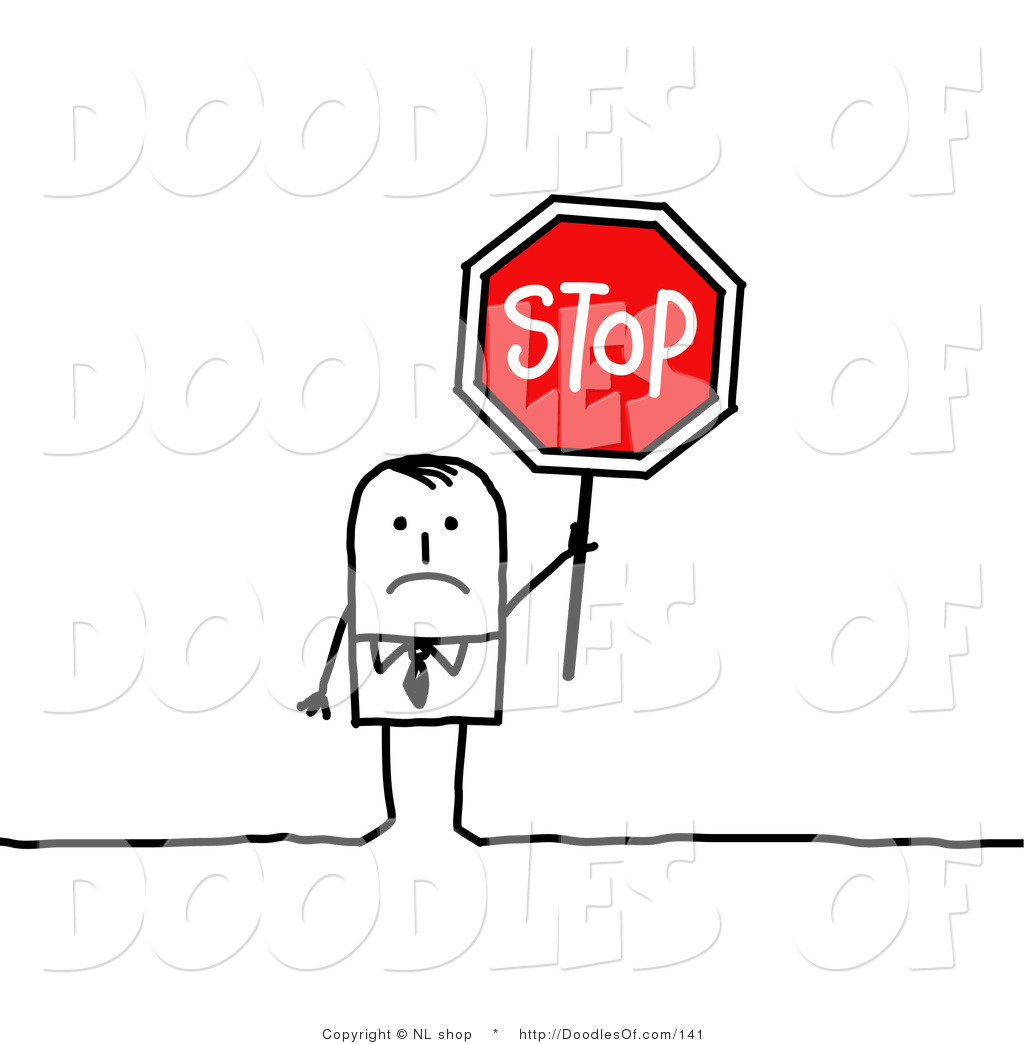 1024x1044 Vector Clipart Of Sad Stick Figure Person Businses Man Holding