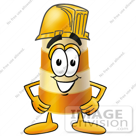 450x450 Clip Art Graphic Of A Construction Road Safety Barrel Cartoon