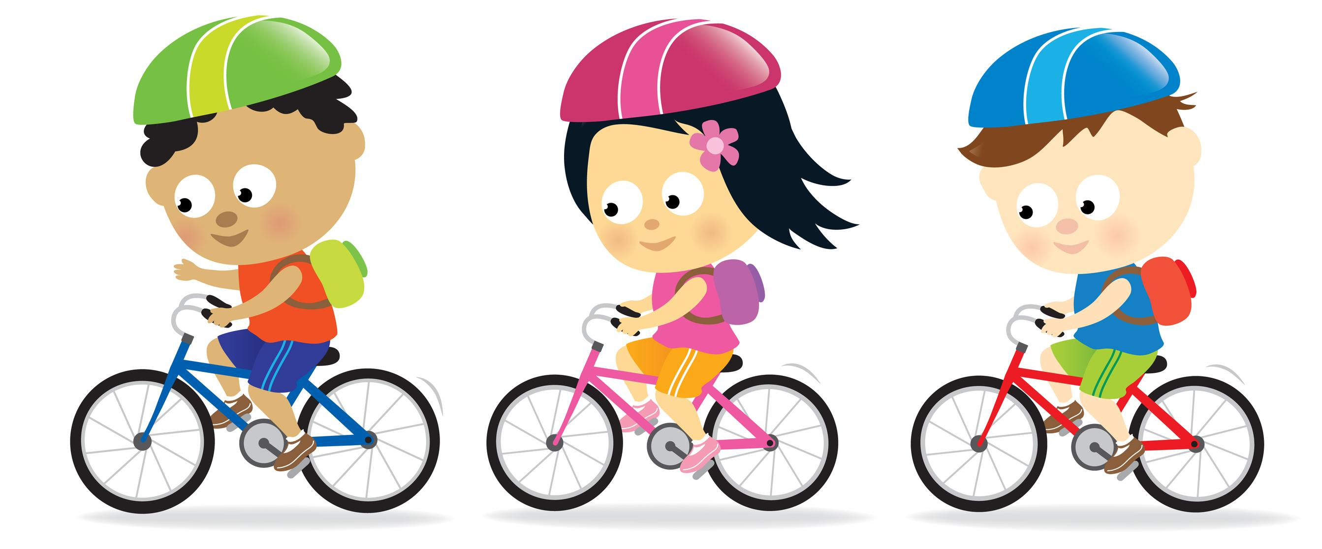 2686x1116 Best Free Bicycle Safety Clipart Drawing