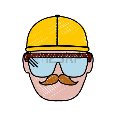 450x450 Man With Safety Goggles And Helmet Icon Royalty Free Cliparts