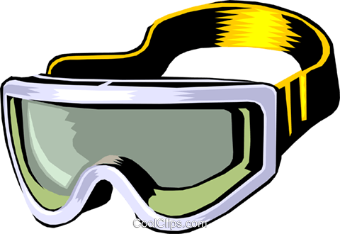 480x330 Skiing Goggles Royalty Free Vector Clip Art Illustration Spor0184