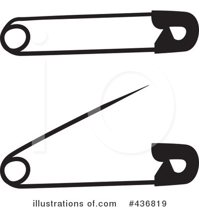 400x420 Safety Pin Clipart