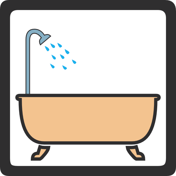 600x600 Shower Signs Clip Art (16+)