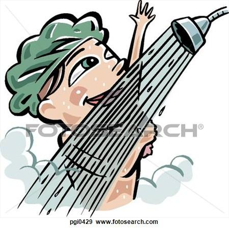 450x449 Singing in The Shower Clipart (13+)