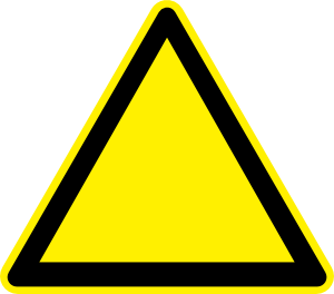 300x264 Empty Yellow Triangle Clip Art