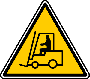 300x264 Fork Lift Sign Clip Art