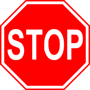 300x300 Stop Sign 2 Clip Art