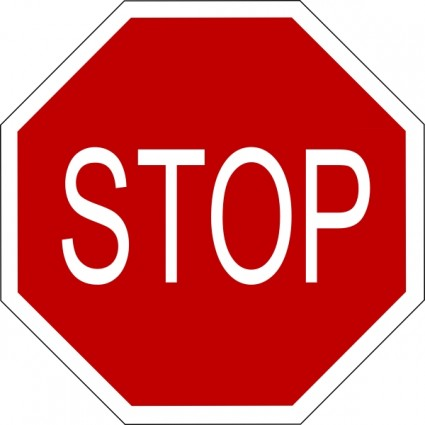 425x425 Stop Clipart Safety Sign