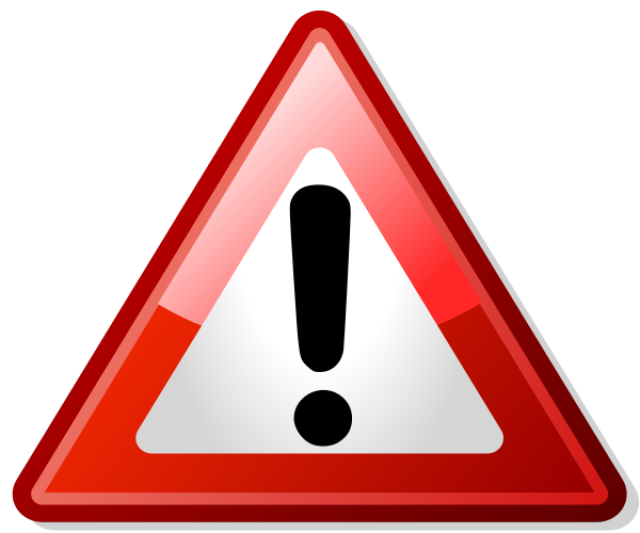 640x533 Triangle Clipart Safety Sign