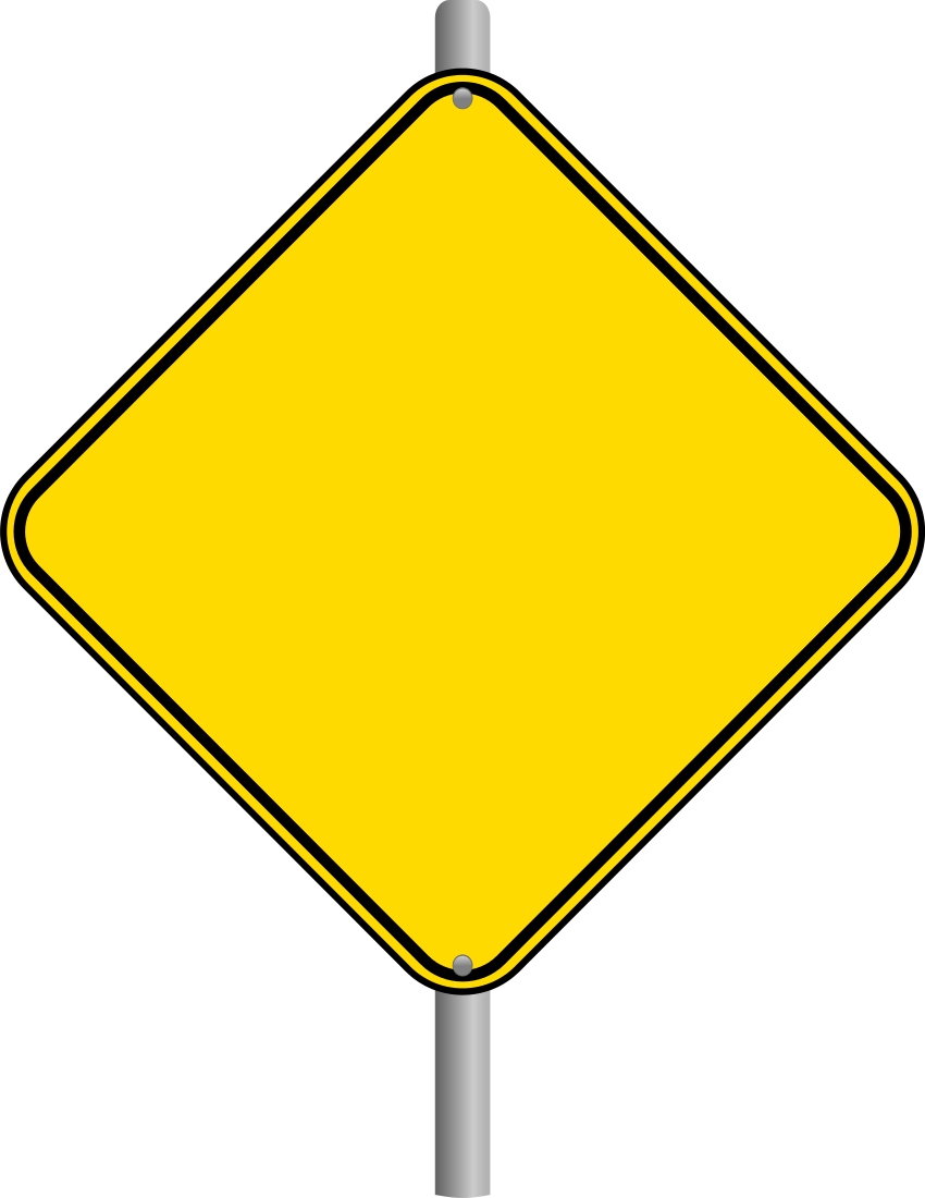 850x1100 Caution Sign Plain Caution Road Sign Clipart Clipartfest 2