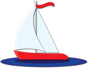 300x232 Sailboat Clipart Image Clip Art A Red Sailboat
