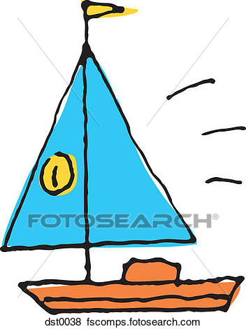 352x470 Stock Illustration Of A Sail Boat Dst0038