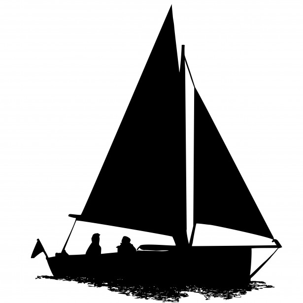 615x615 Black Amp White Clipart Sailboat Clipart Silhouette Gallery ~ Free