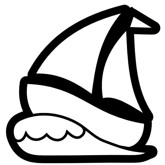 555x555 Free Sailboat Clipart Black And White Image