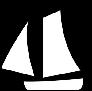 300x297 Sailing Boat White Clip Art