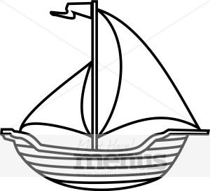 300x272 Sailing Boat Clipart Mast