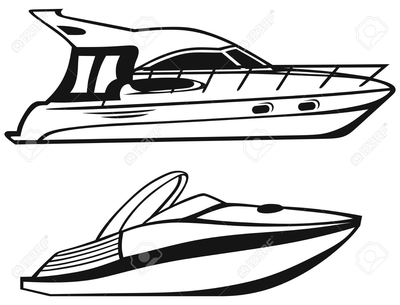 1300x993 Sailing Boat Clipart Speed Boat