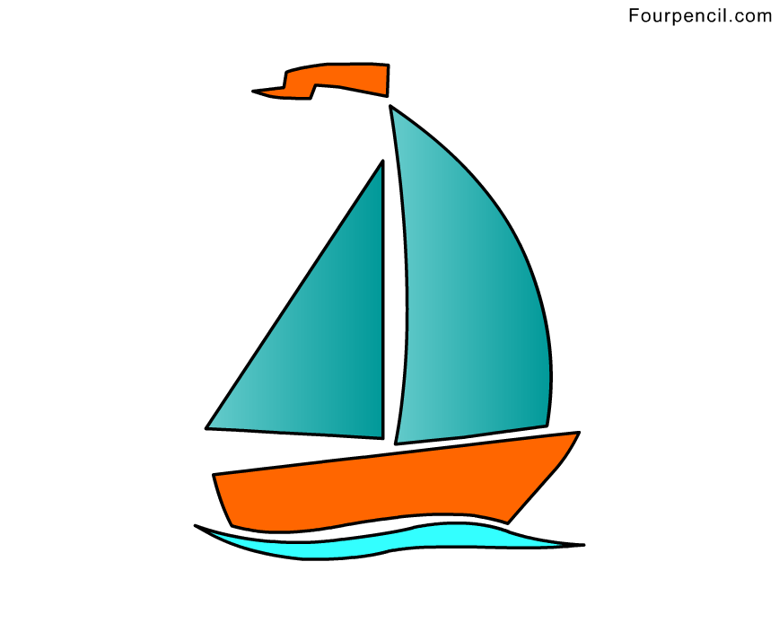 Sailboat Drawing For Kids
