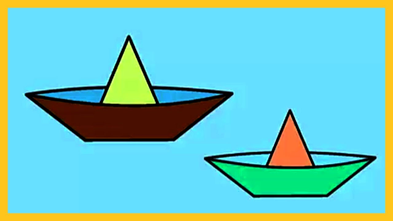 1280x720 Coloring For Kids, How To Color A Paper Boat, Coloring For Kids