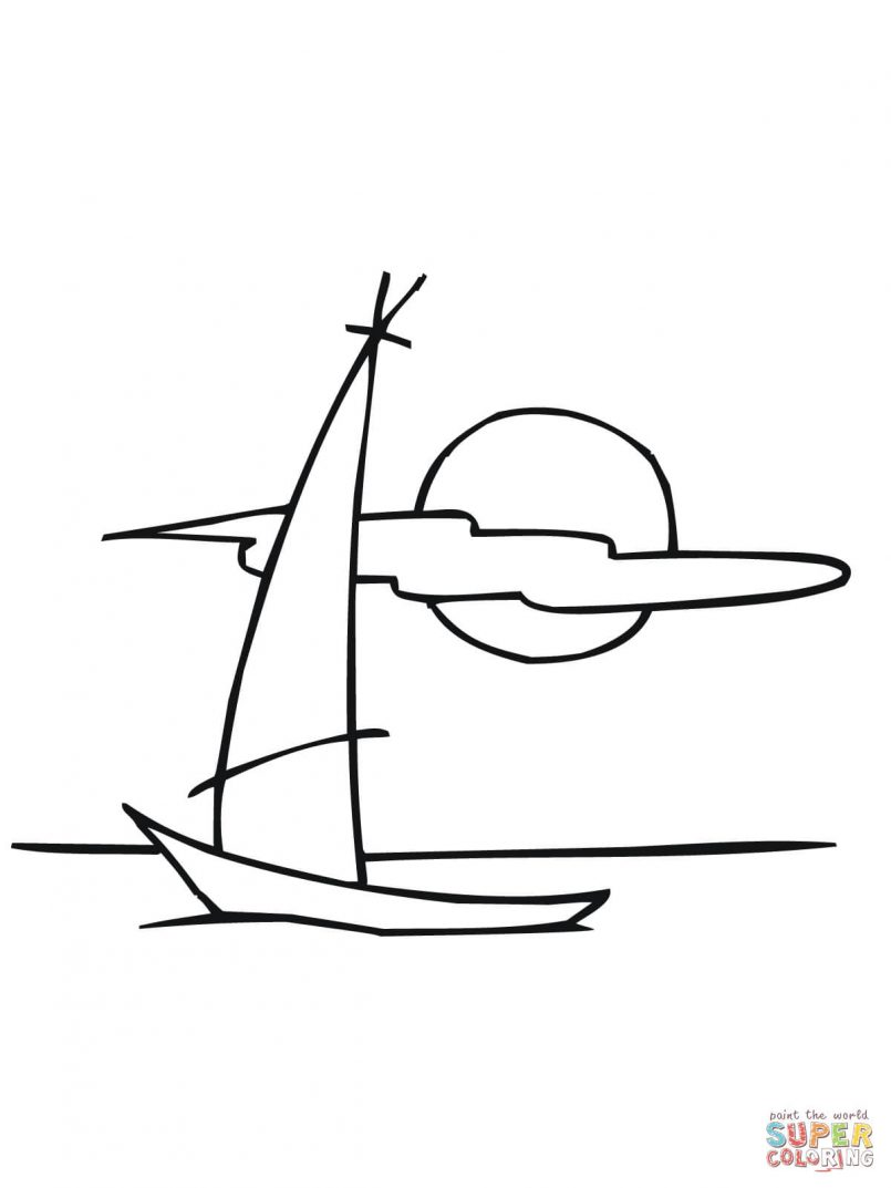 Sailboat Drawing For Kids | Free download best Sailboat Drawing For ...